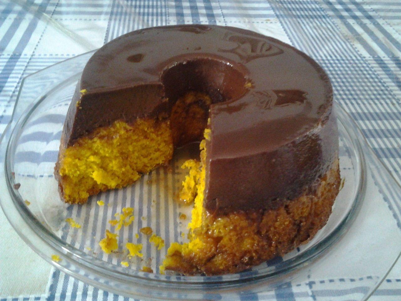 Bolo De Cenoura Magnifico Recipe Brazillian Food Sweet