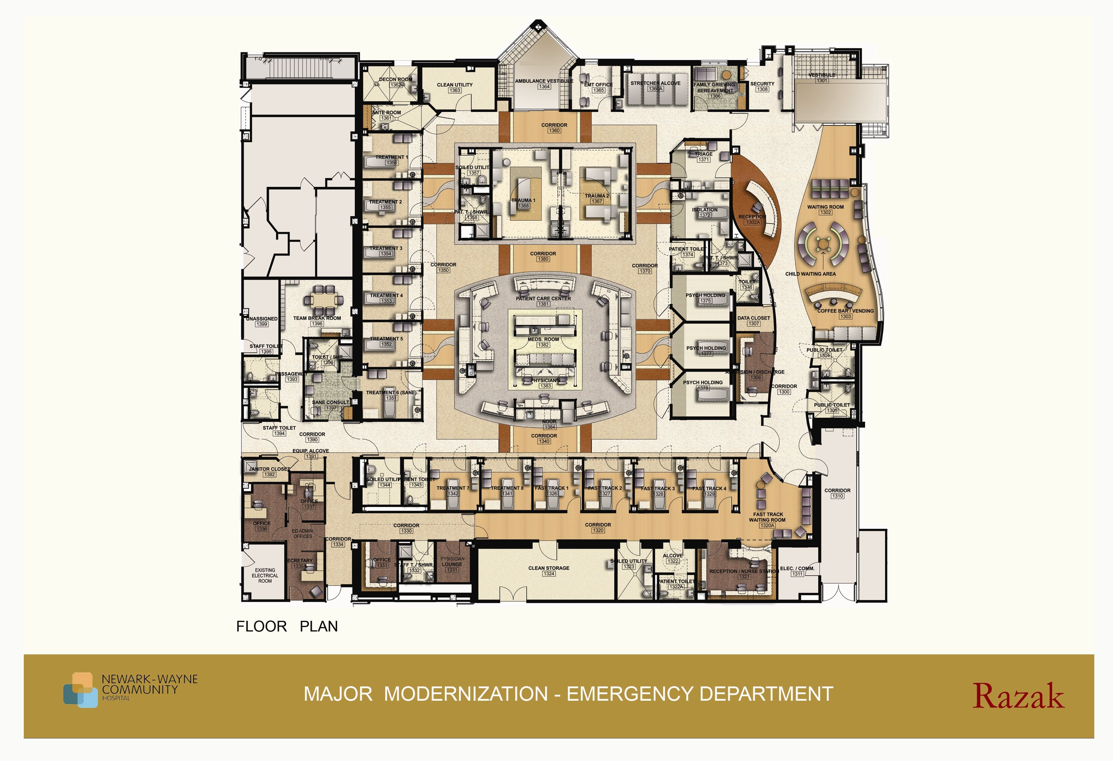 Example Of Er Floor Plan Hospital Plans Hospital Floor Plan
