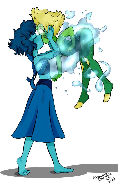 lapislázuli and peridot water kiss