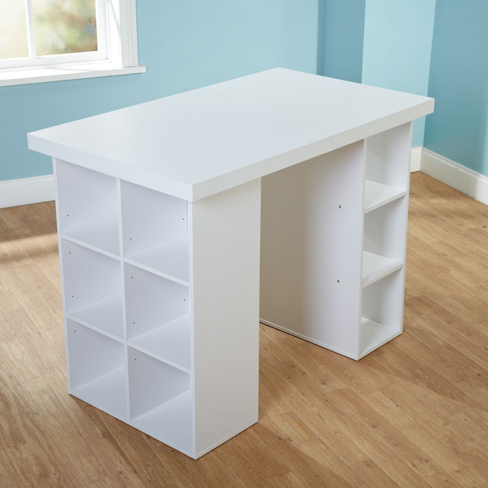 Galley Kitchen Ideas That Work For Rooms Of All Sizes: Simple Living White Counter Height Craft Table