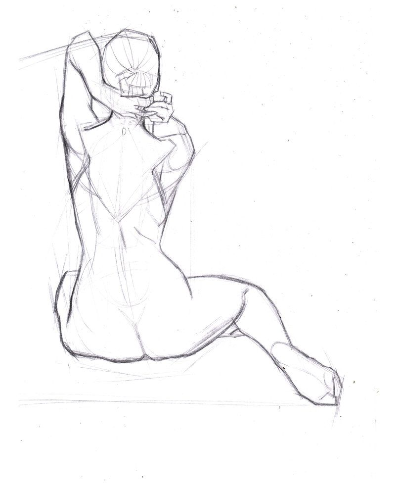 Full Figure Lay In 093 By Funkymonkey1945 Sketches And Anatomy