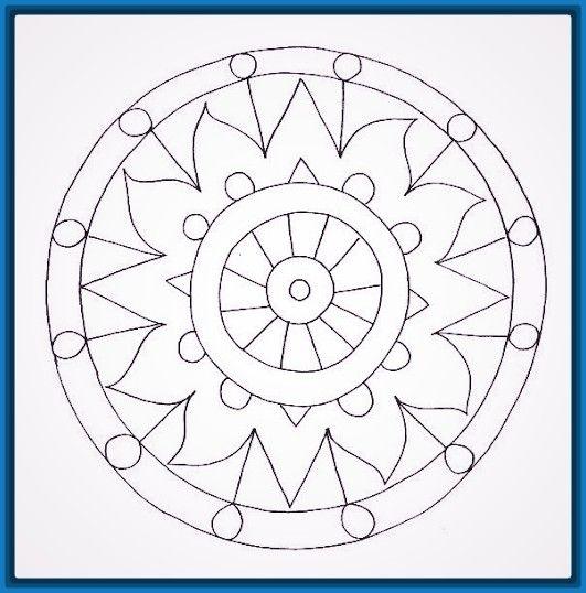 Resultado de imagen de mandalas de circulos para colorear MANDALAS