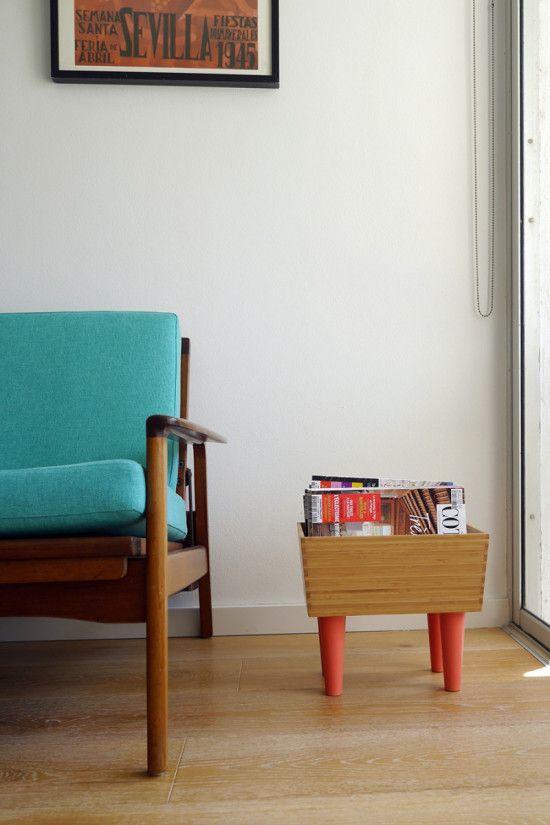 Ikea Variera Bamboo Box Hacked Into Magazine Rack Ikea Hack