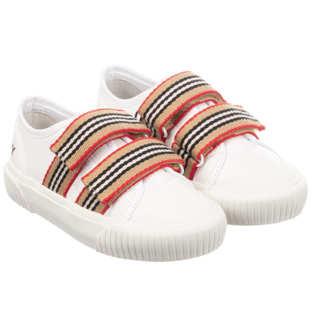 Leather trainers, Girls white trainers