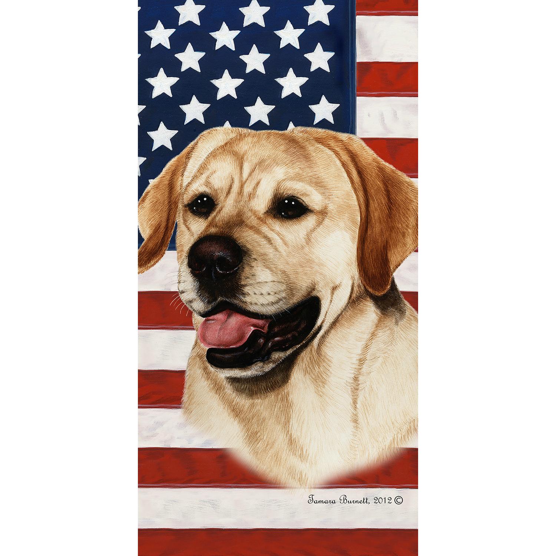 Patriotic Labrador Retriever Beach Towel Labrador Retriever
