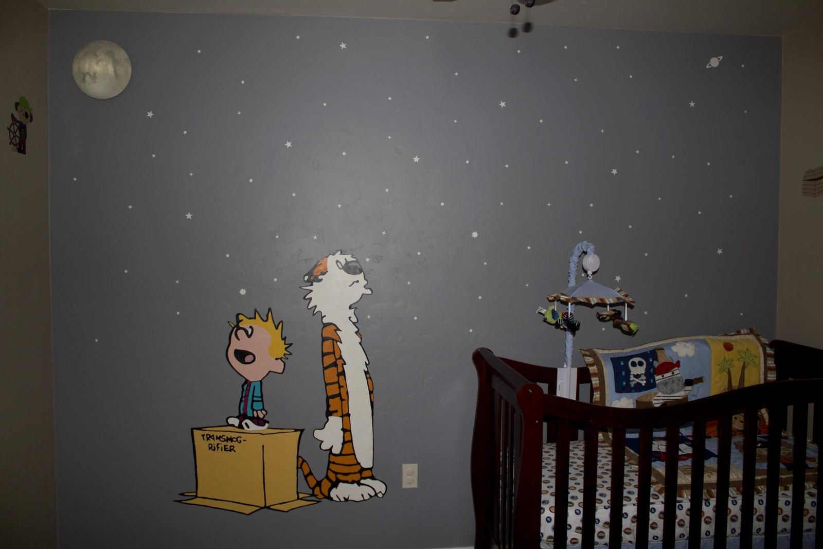 Nursery Wall Calvin And Hobbes Room Bedroom Murals