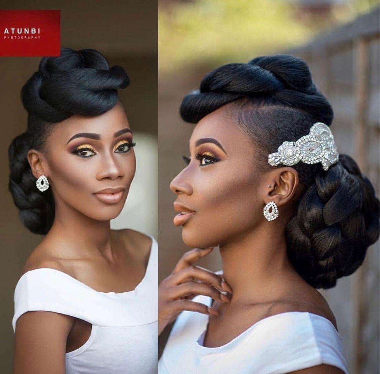 Pin By Yasmine Ahmed On Black Bride Pinterest Hair