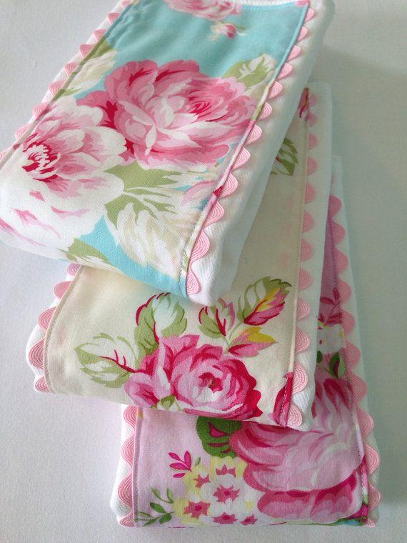 71d9df9bf Baby Girl Burp Cloths ~ Cloth Diaper Burp Cloths ~ Tanya Whelan ...