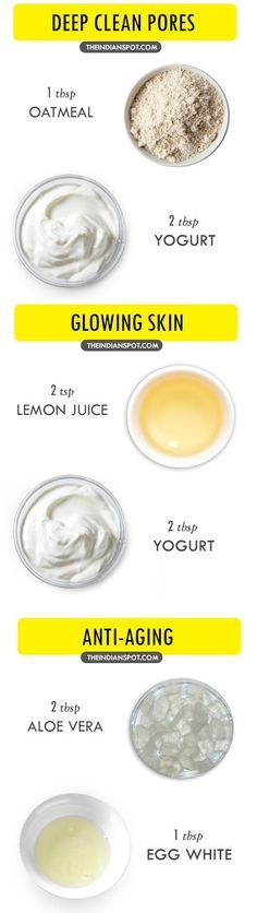 Homemade face masks