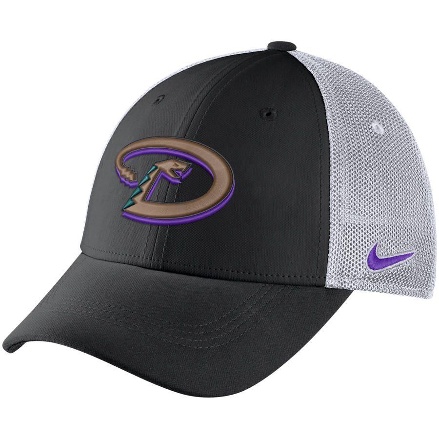 255ecd0d41b Men s Arizona Diamondbacks Nike Black Aerobill Classic 99 Meshback Flex Fit  Hat