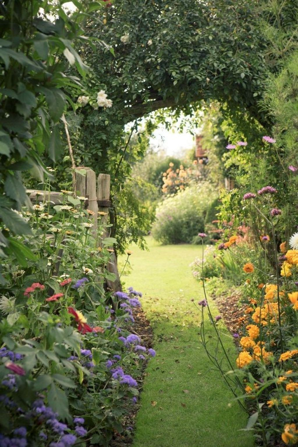 A traditional Cottage Garden's plant list might surprise you. The list would include fruit trees and vege