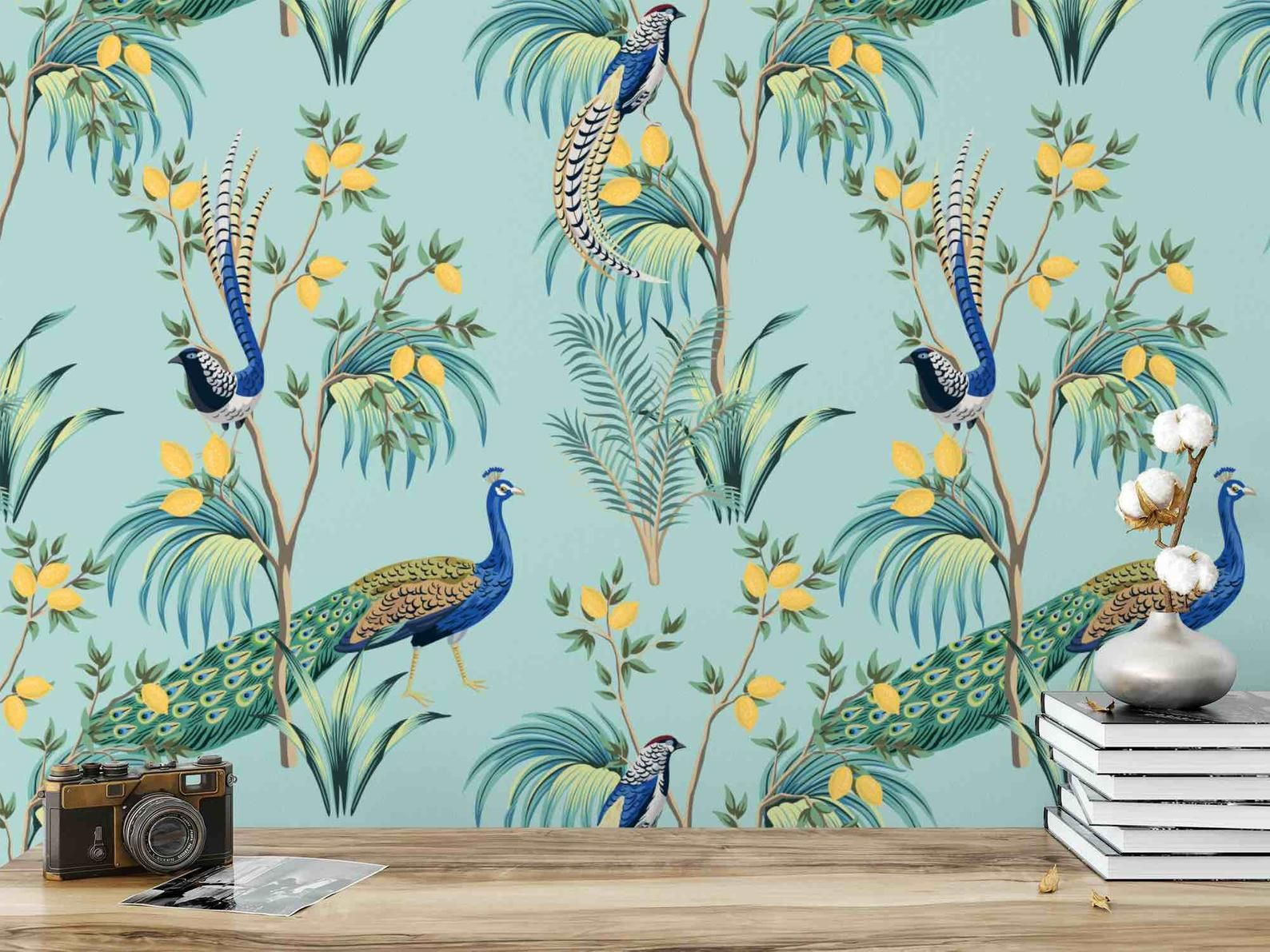 Chinoiserie Wallpaper Peel And Stick Wallpaper Removable Etsy Chinoiserie Wallpaper Peacock Wallpaper Peel And Stick Wallpaper