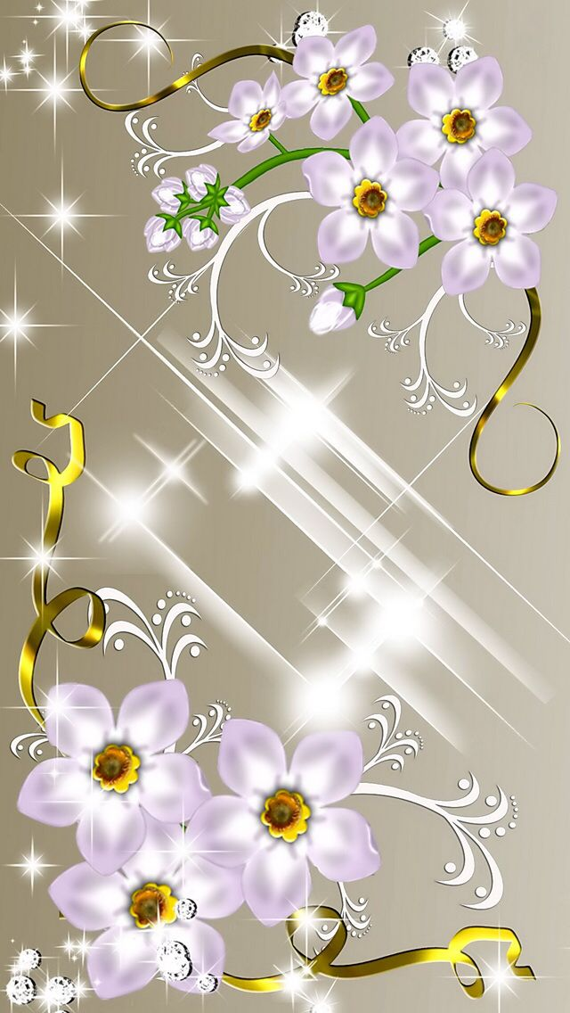 Floral Delight Wallpaper...By Artist Unknown...