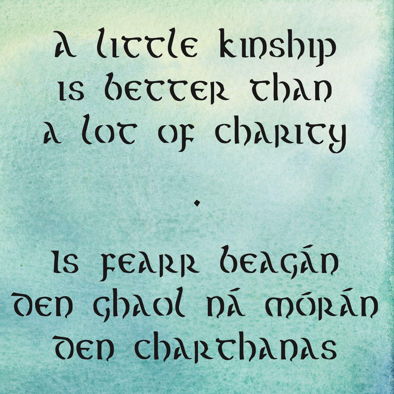 Inspirational Foster Care Quotes: Irish Wisdom Wednesday: On Kinship. Irish Sayings On