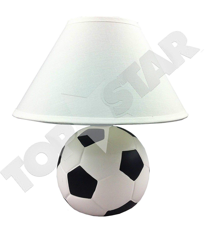 ⚽ Soccer Room | Fußball Tischlampe | Fußball Kinderzimmer ...