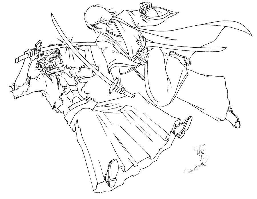 bleach rukia ichigo coloring pages
