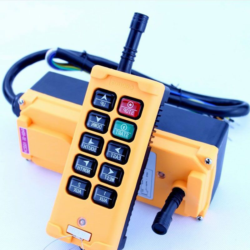 10 Channels Hoist Crane Radio Remote Control System 24V