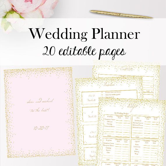 wedding planner template pdf editable wedding planner templates pdf