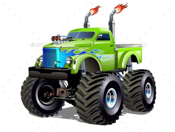 Cartoon Monster Truck Monster Trucks Monster Truck Drawing Cartoon Monsters