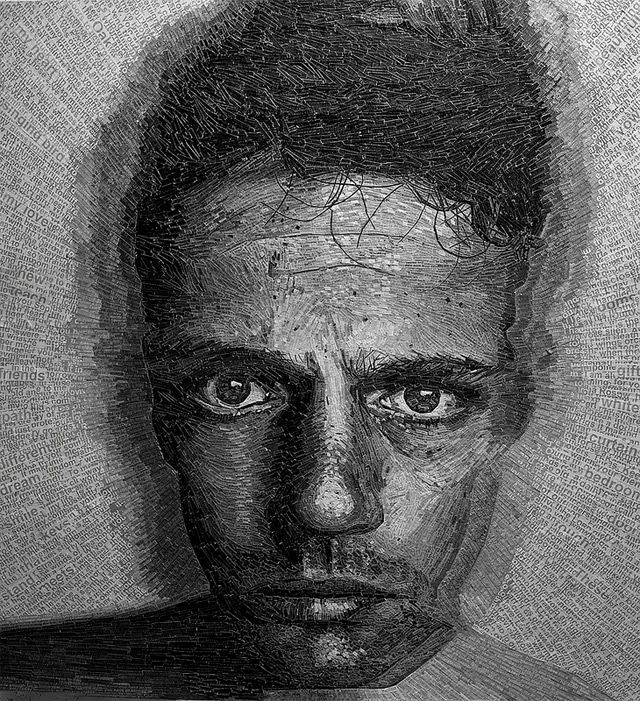 Portraits Made of Shredded Poetry by Jamie Poole | Colossal