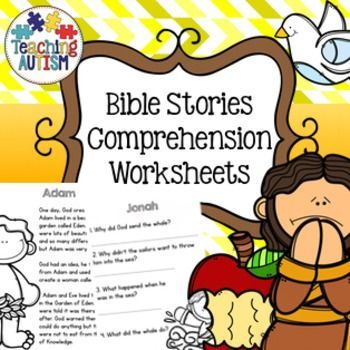 44+ Bible story reading comprehension worksheets Top