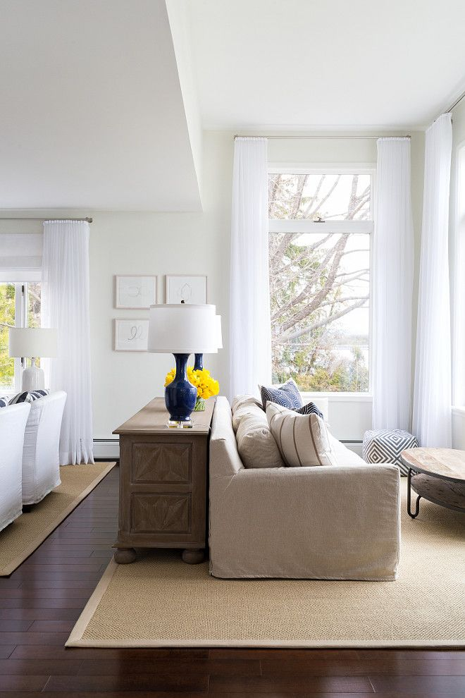 Living Room This Living Room Features Two Distinct Seating Areas This Is A Great Layout For Long Living Rooms Lovely Space In Living Room Design In 2019