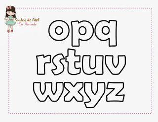 Blog do passo a passo: molde de letras minúsculas