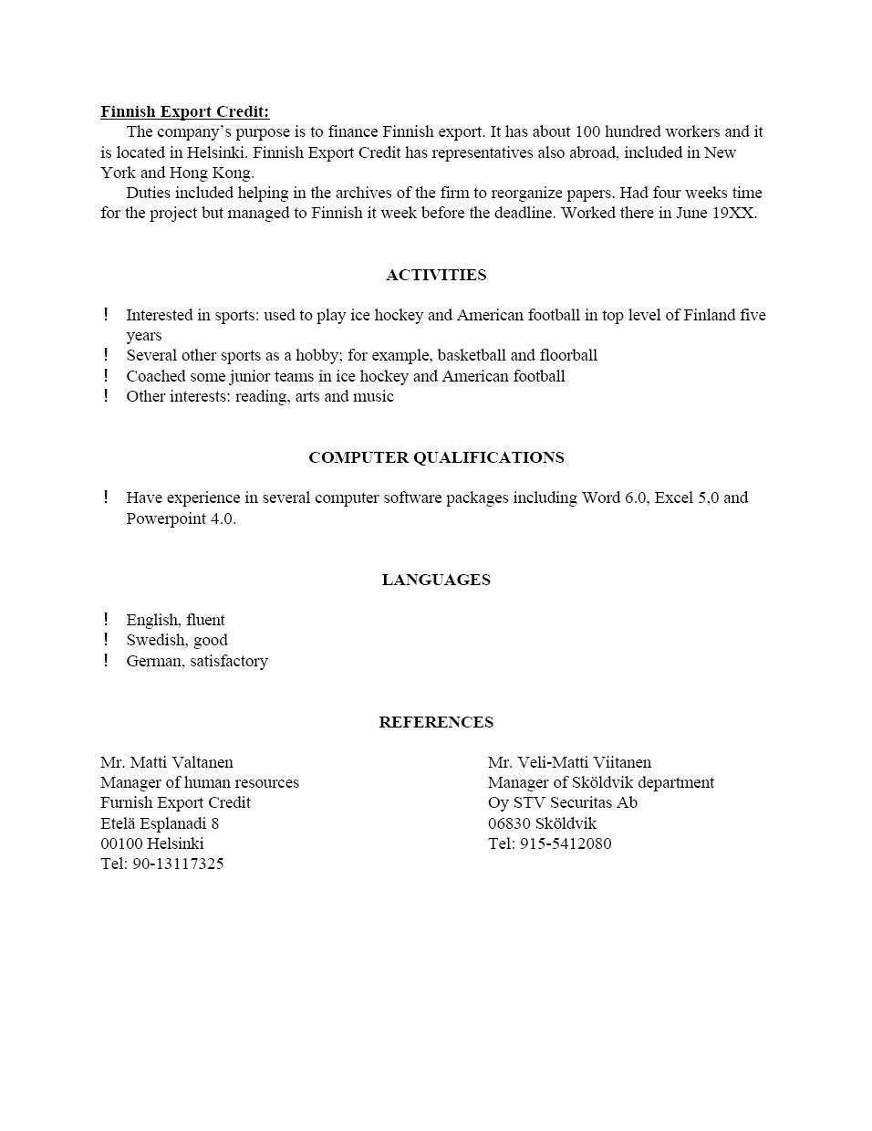 Resume Template For Letter Of Recommendation Zanka