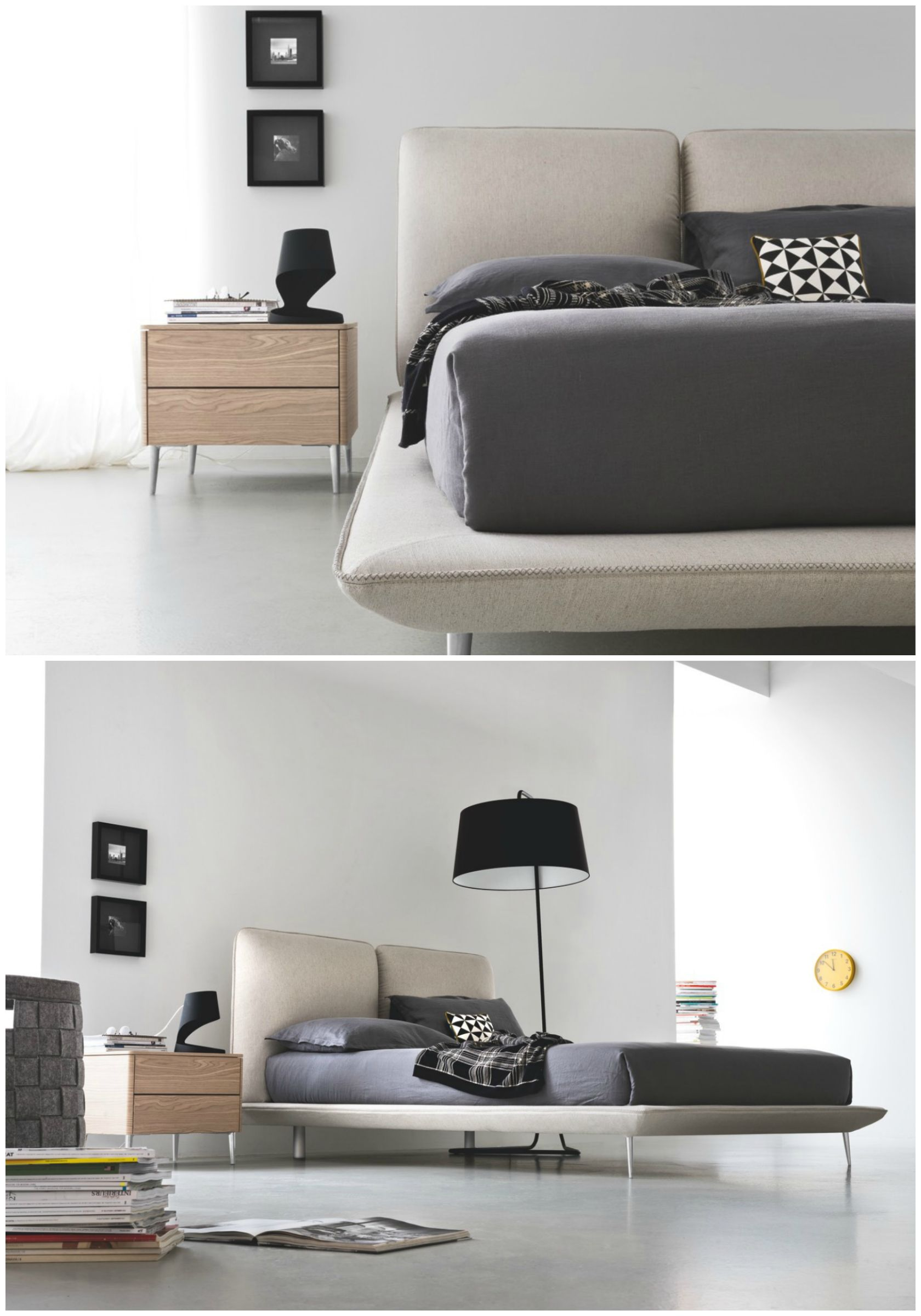 Featuring a divided upholstered headboard, TAYLOR King or
