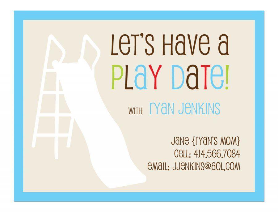 Flat Note Card Playdate Invitation Set Of 25 Kid Stuff