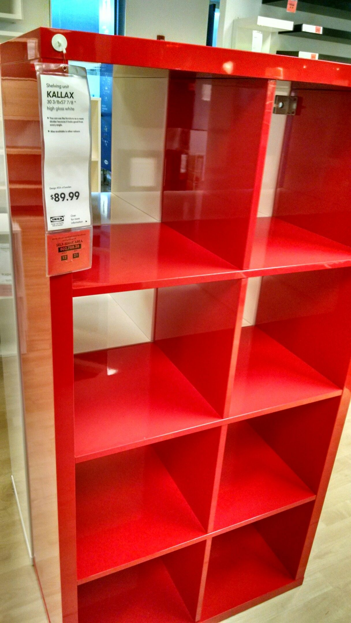 Ikea Kallax Large Red Shelf 89 99 Red Shelves Kallax Ikea Shelves