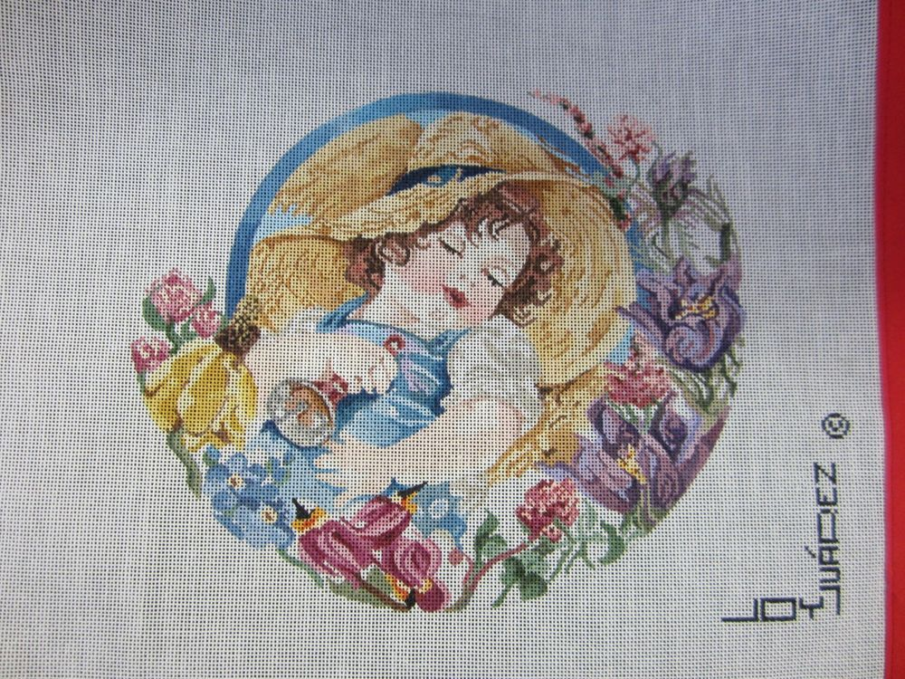 Needlepoint Canvas Little Boy Blue by Joy Juarez #JoyJuarez