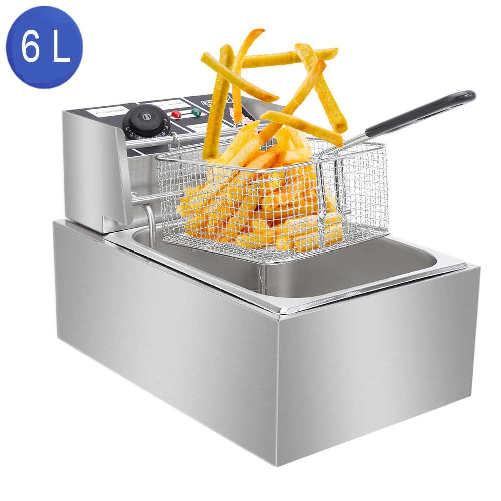 Zokop 6 3qt Electric Deep Fryer Countertop Deep Fryer Restaurant Stailless Steel Walmart Com Electric Deep Fryer Electric Fryer Home Deep Fryer