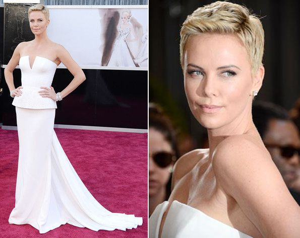 Charlize Theron in Dior Haute Couture, 2013 Academy Awards