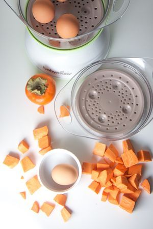 Fall superpower puree babies sweet potato persimmon egg yolk baby food puree forumfinder Images