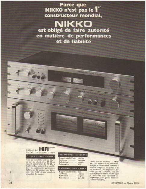appareils hifi,Nikko