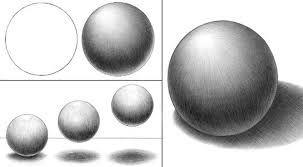 Resultado De Imagen Para Esfera Luz Y Sombra Tecnicas De Sombreado Luz Y Sombra Dibujos A Mano Alzada