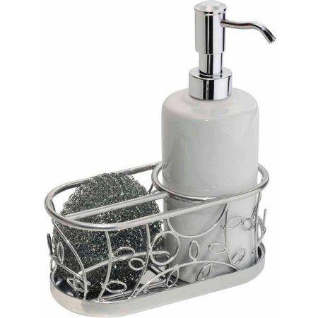 Interdesign Twigz Soap And Scrubby Center Walmart Com Soap Pump Dispenser Soap Pump Kitchen Soap Dispenser