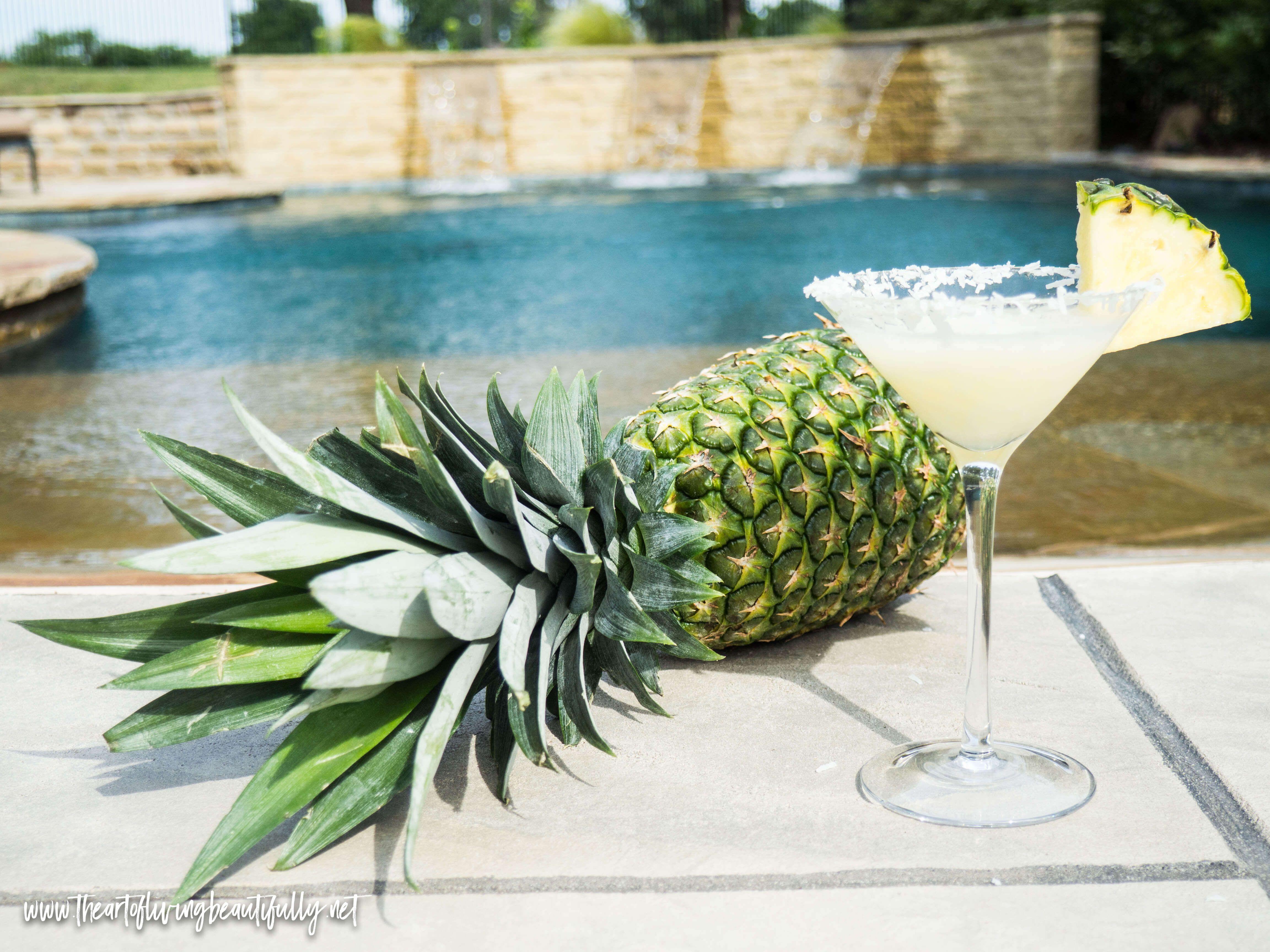Coconut pineapple martini taolb paradise vacationmode