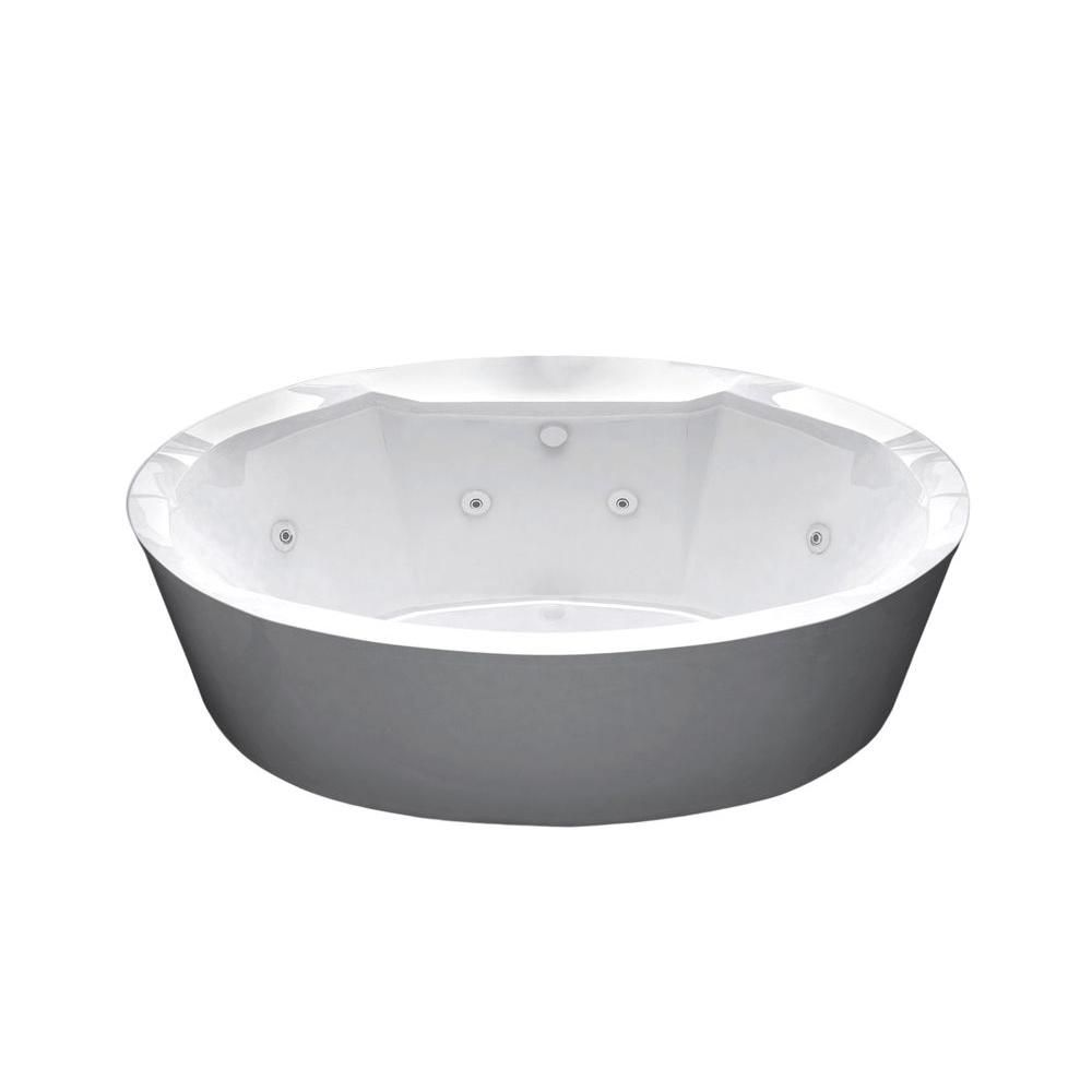 Universal Tubs Sunstone 5 7 Ft Whirlpool Tub In White Hd3468sw