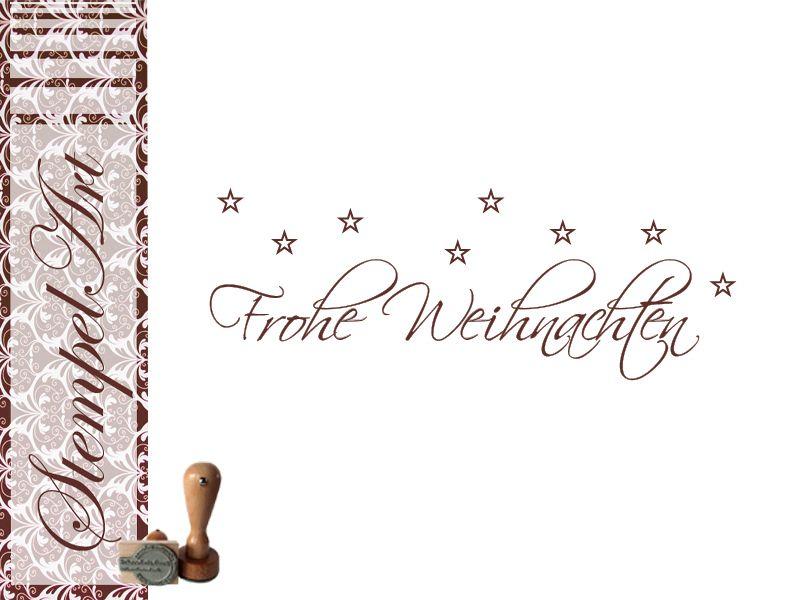 stempel frohe weihnachten 40x15 mm von stempel art auf. Black Bedroom Furniture Sets. Home Design Ideas