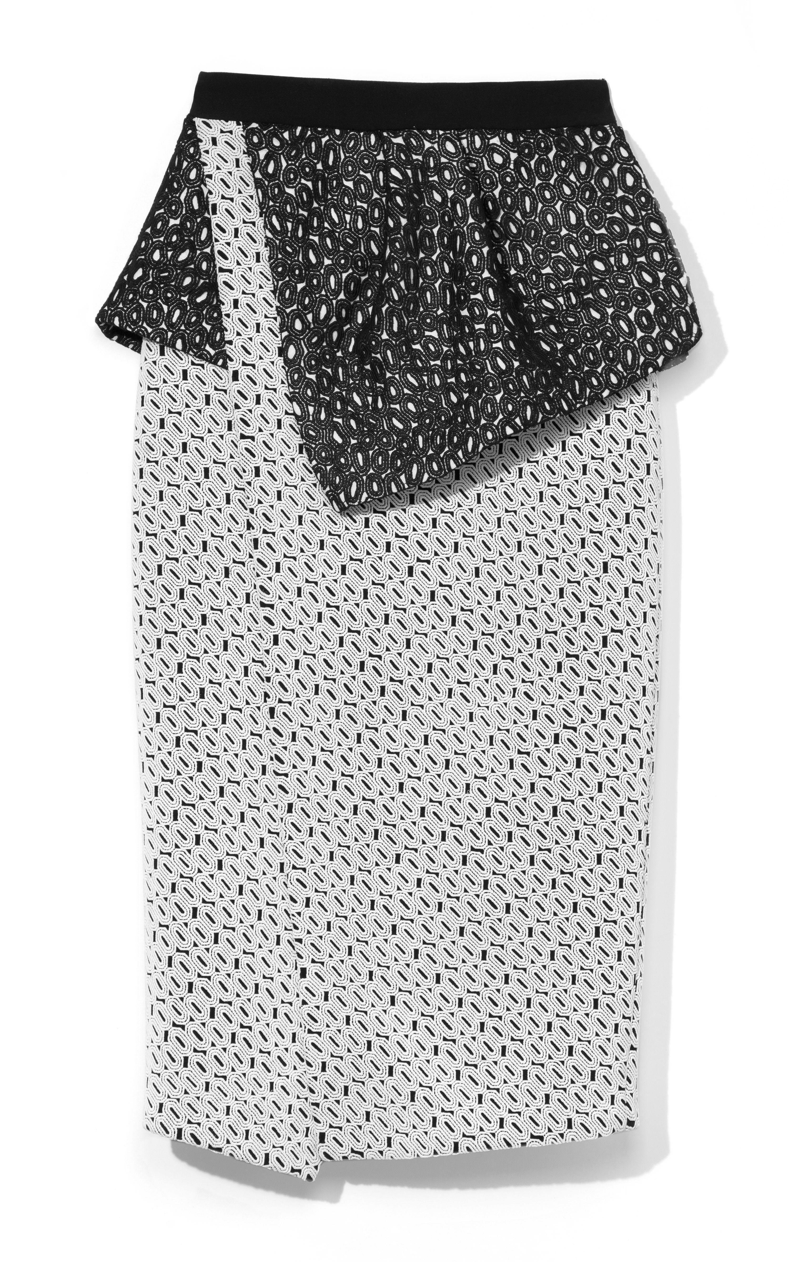 eae1809fec Embroidered Geometric Lace Peplum Skirt by Proenza Schouler - Moda Operandi