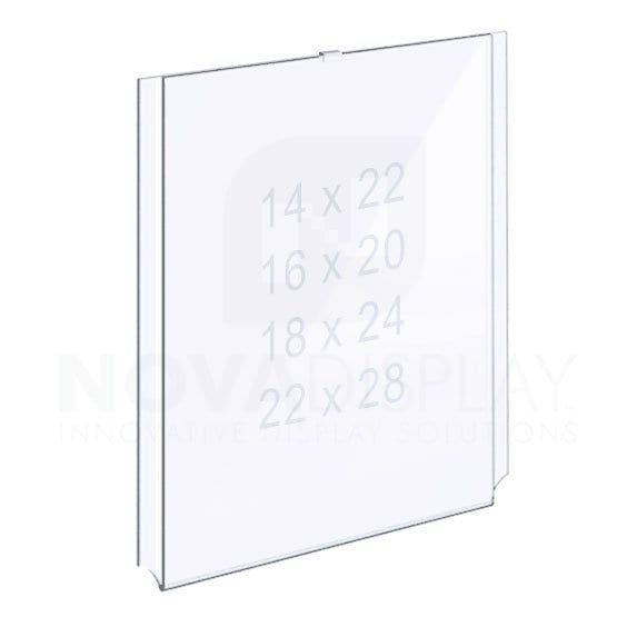 Easy Access Acrylic Pocket Portrait Insert Size Medium Poster Large Format Printing Clear Acrylic Large Format