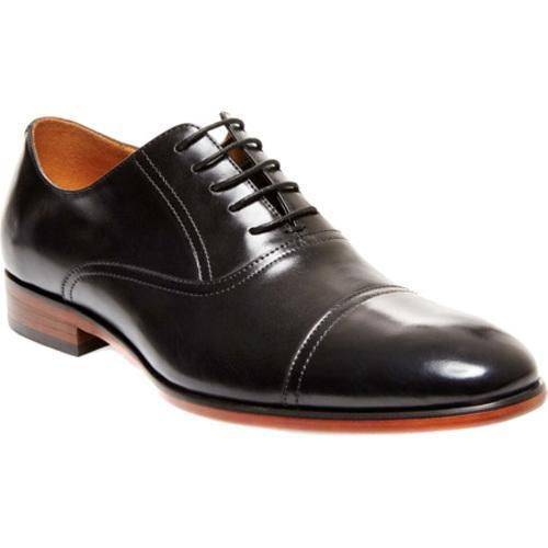 4b456521b08 Men's Steve Madden Herbert Cap-Toe Balmoral Black Leather   Products ...