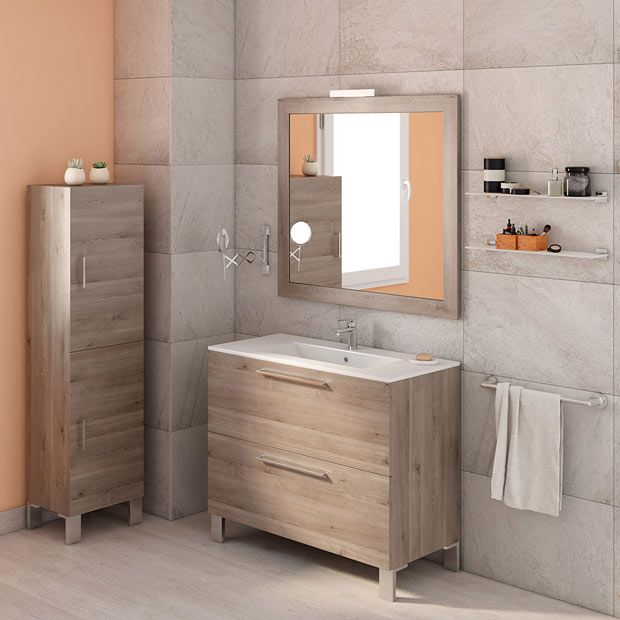 Muebles de lavabo leroy merlin ba os pinterest house for Muebles de bano pena