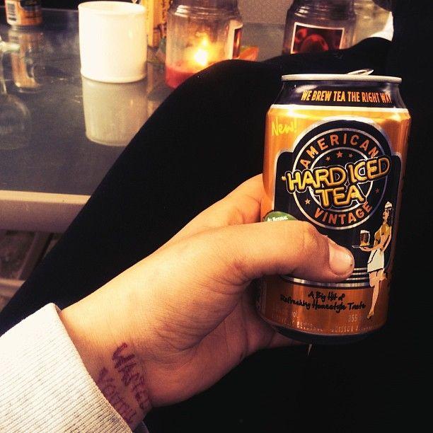 American Vintage Iced Tea Fan Photo Mikaylamonkman Hard Ice Tea With Lemon Brewing Tea Iced Tea Tea Leaves