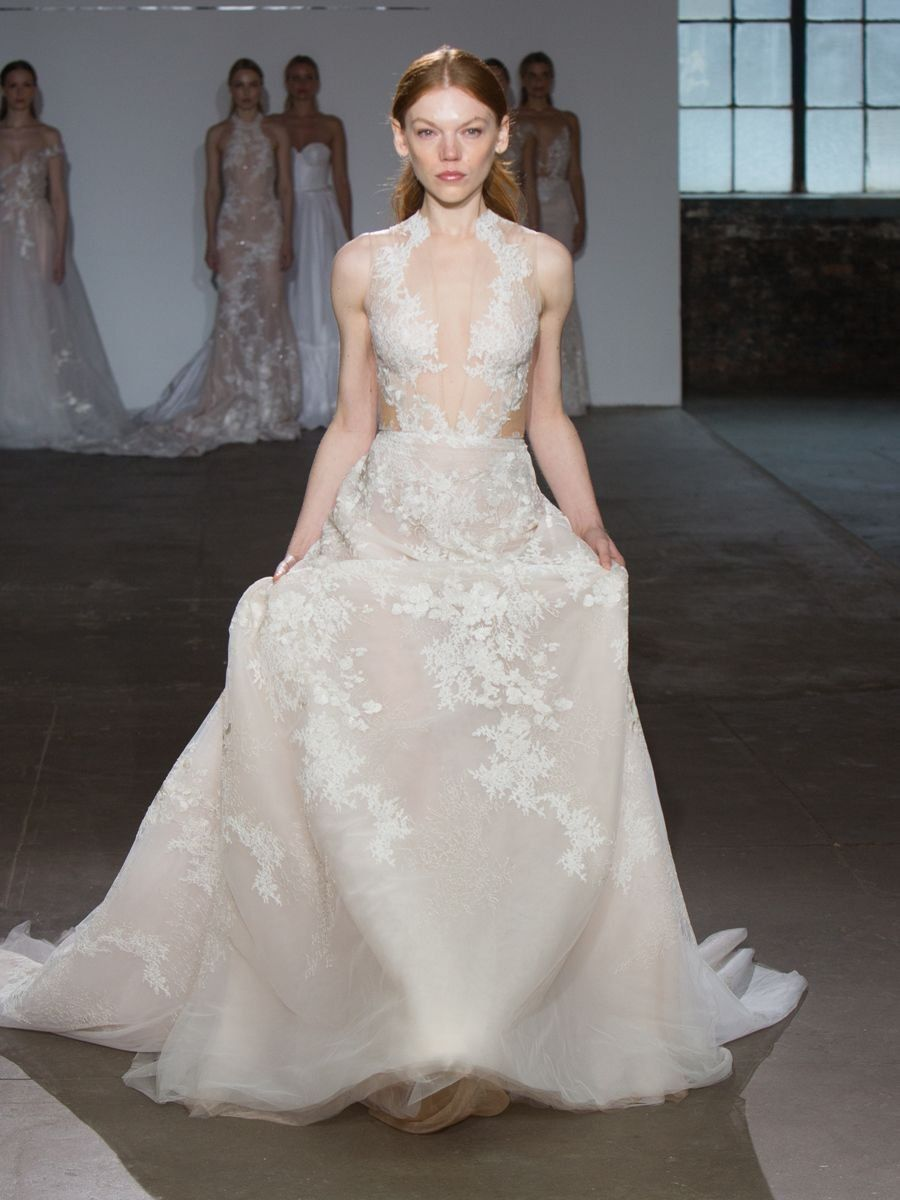 Adam Zohar Spring 2019: Super-Sheer Gowns With Luxe Embroidery ...