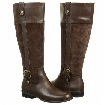 Women's Anne Klein Ciji Wide Calf Brown/Brown Shoes.com
