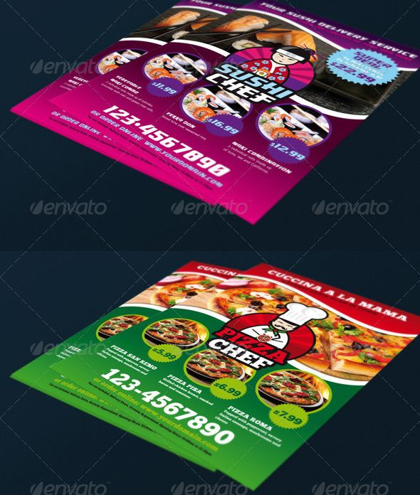 Food Delivery Super Bundle  Flyer    Flyer Template
