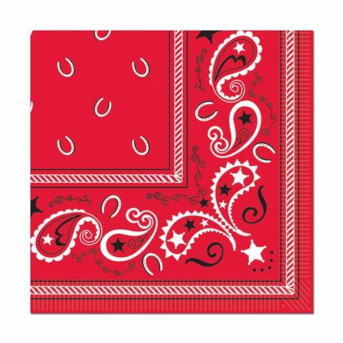 Cowboy Bandana Dinner Napkins Western Party Decorations Themed Party Supplies Western Theme Party